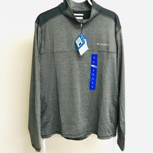 Columbia Mens 1/4 Zip Pullover Two-Tone Large, P35